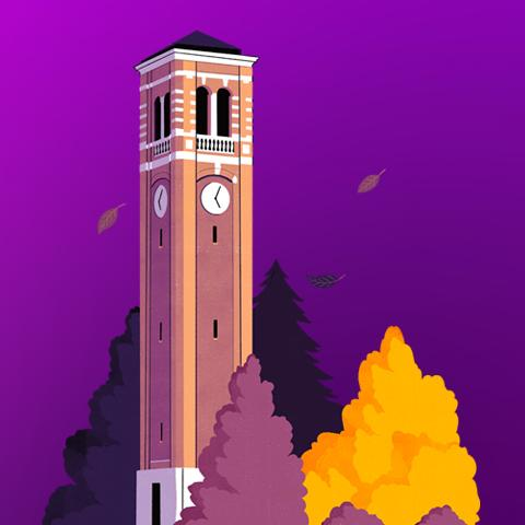 An illustration of the Campanile